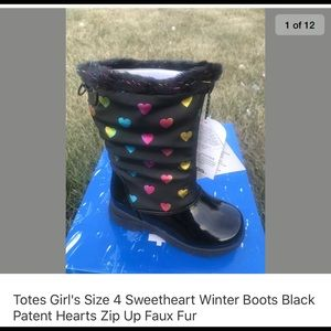 New Size 11-2-4 Totes Winter Waterproof Boots